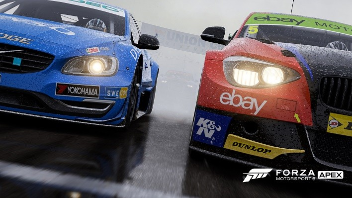 Racing in the rain in Forza Motorsport 6: Apex