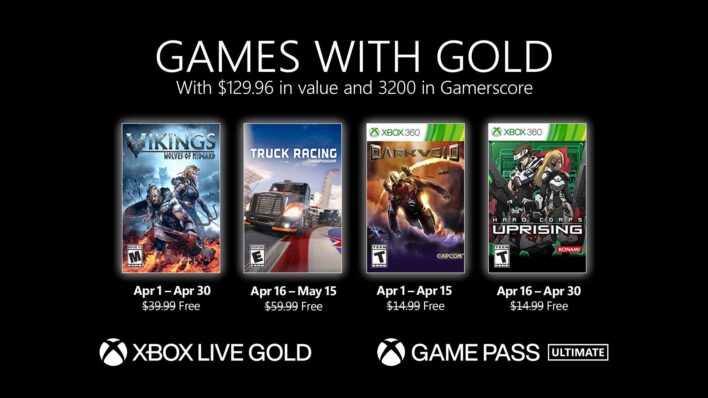 Games with Gold April 2021