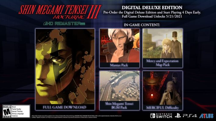 SMT III Nocturne HD Digital Deluxe Edition