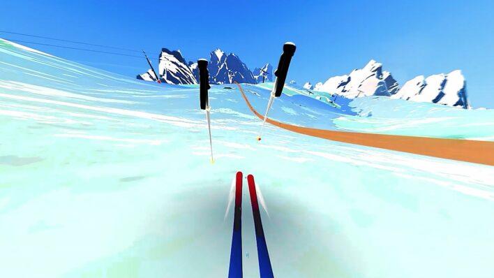 Descent Alps
