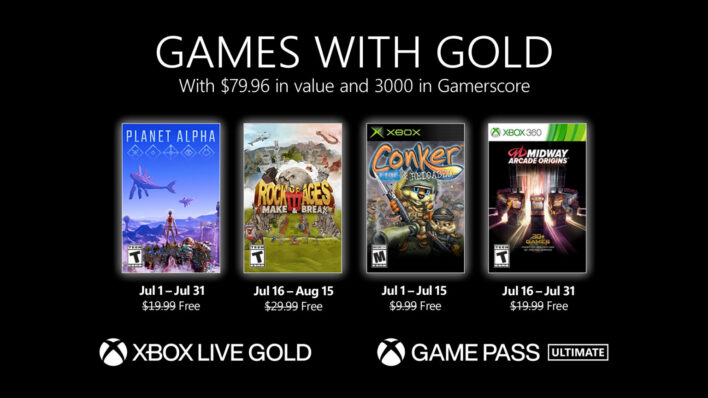 July Games with Gold
